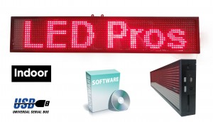 Programmable 1 x 3 led sign red p10