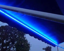 Awning lighting for motor homes
