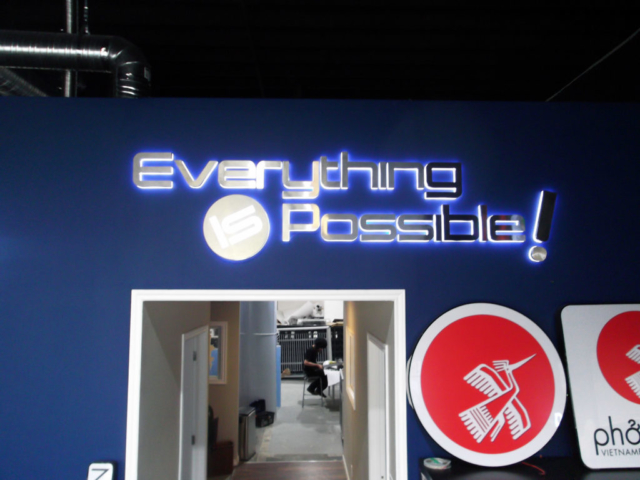 ledpros sign for Everything is Possible