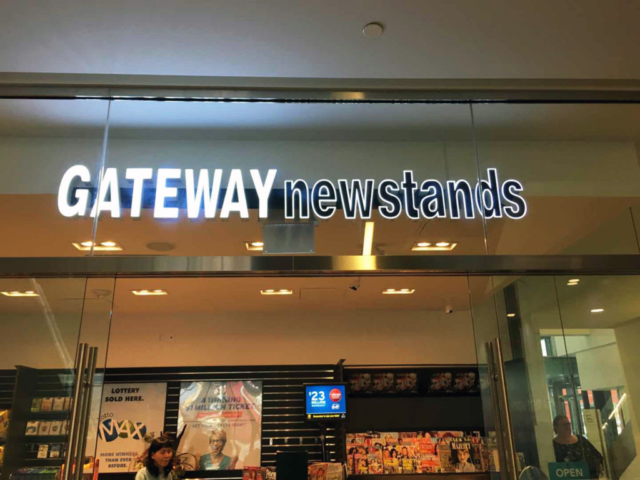 Channel Letters - Gateway Newstands by LED Pros