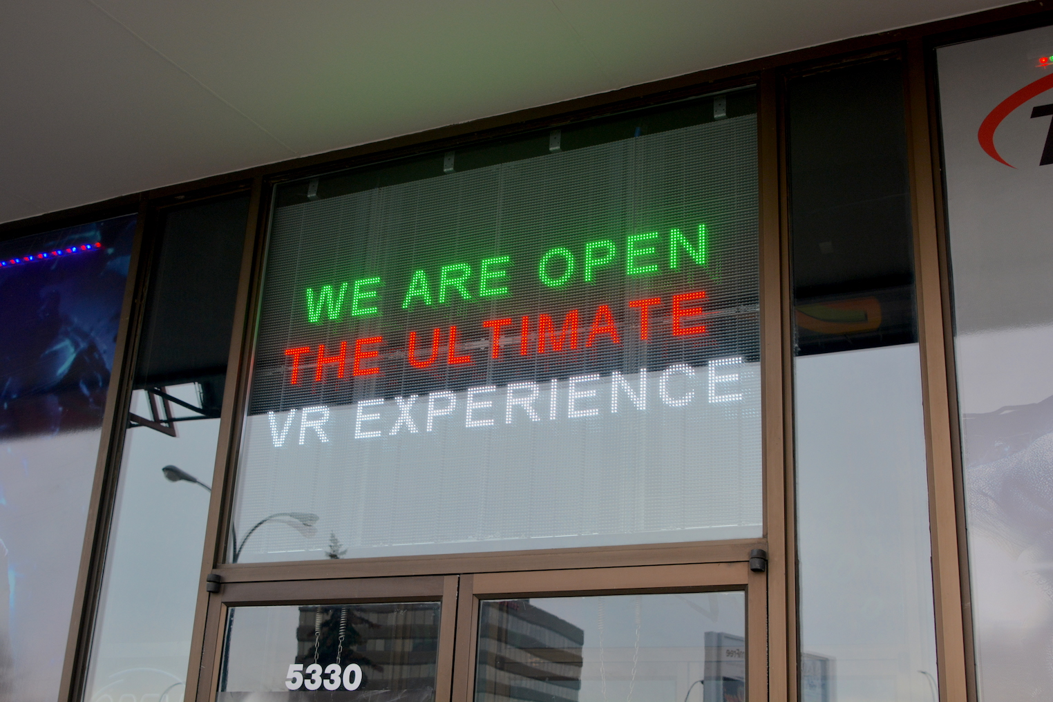 Programmable LED Sign - Elite VR Cafe by LED Pros