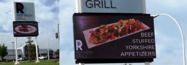 Pylon Sign - Refinery Grill