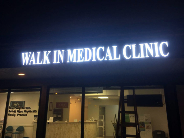 ledpros sign for WALK IN MEDICAL CLINIC