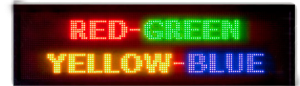 3 Color programmable LED sign