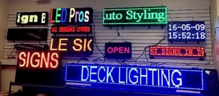 Assorted Programmable LED Signs by LED Pros