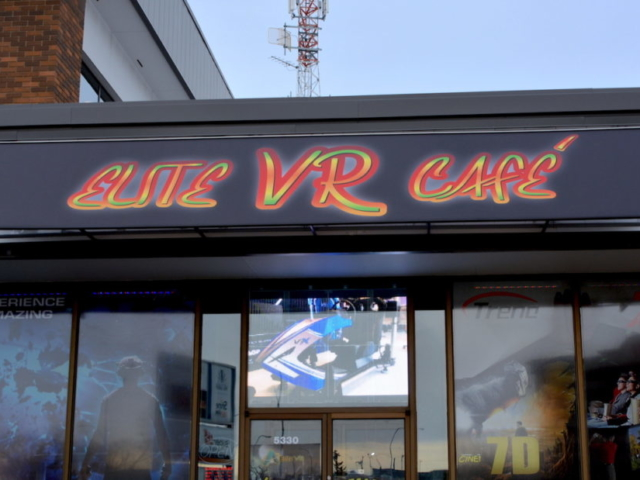 Business Sign - Elite VR Cafe by LED Pros