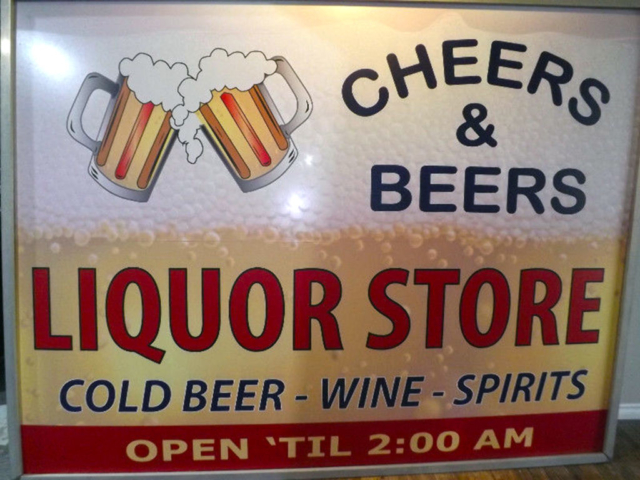 Cabinet Sign - Cheers & Beers by LED Pros