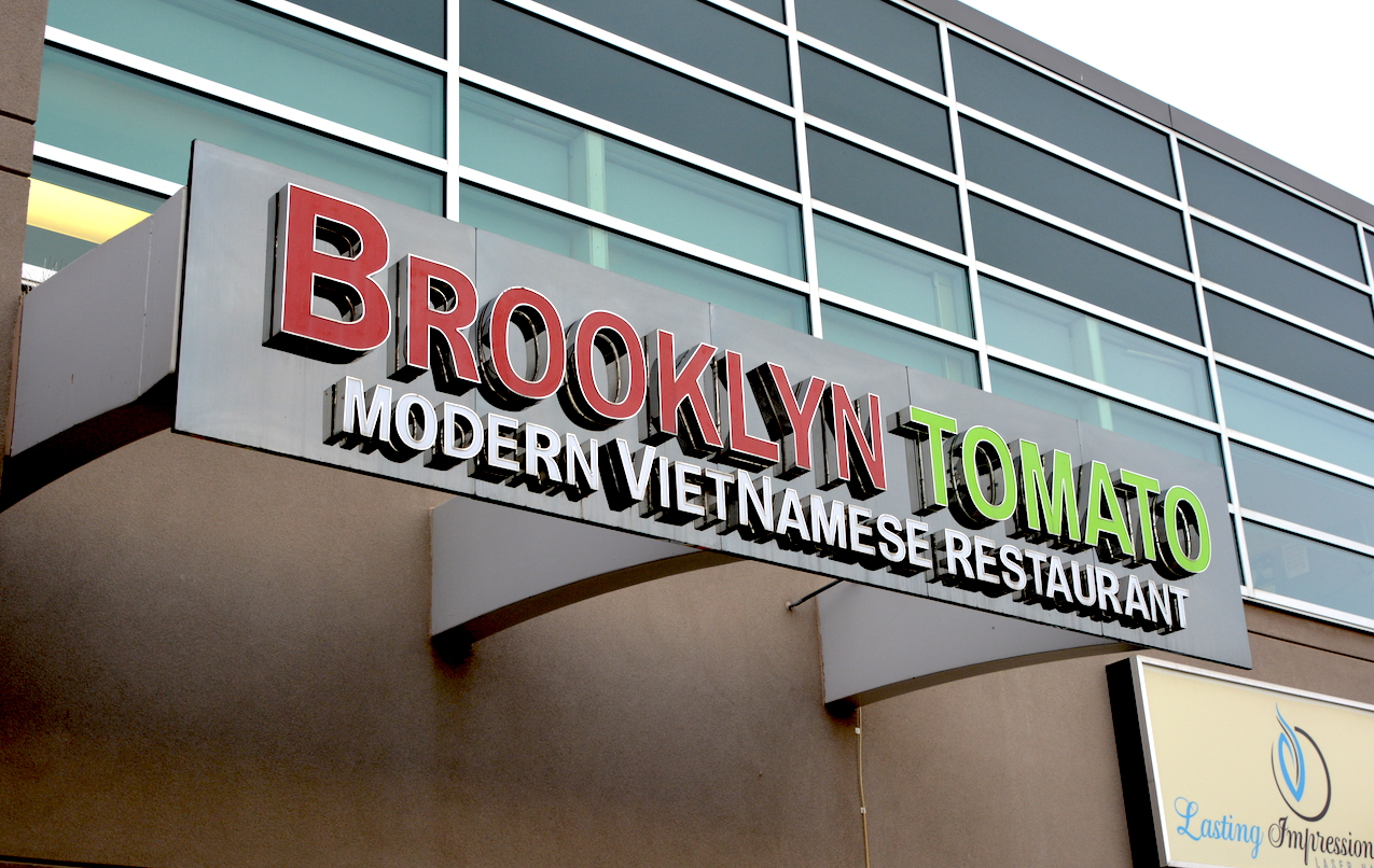 Channel Letters - Brooklyn Tomato by LED Pros