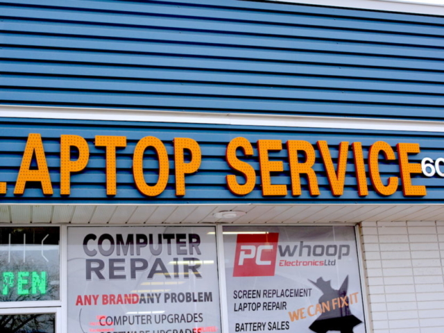Channel Letters - Laptop Service by LED Pros