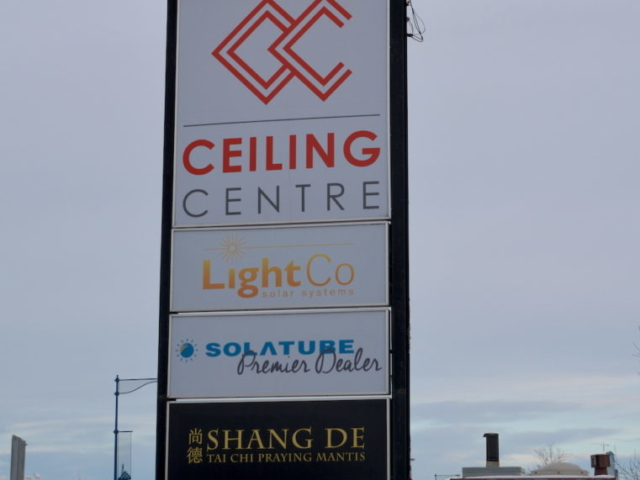 Pylon Sign - Ceiling Centre by LED Pros