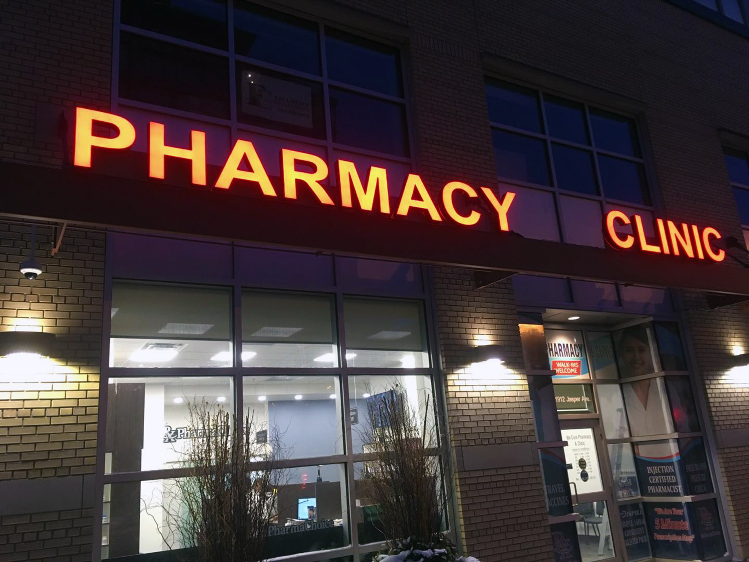 Channel Letters - Pharmacy Clinic by LED Pros